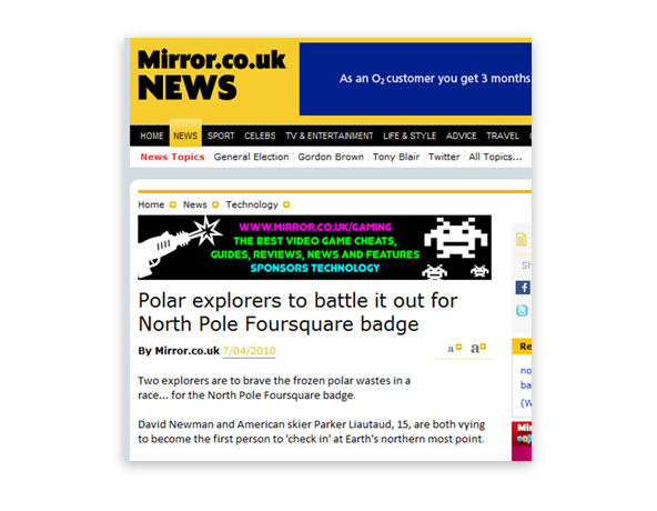 Polar explorers to battle it out for North Pole Foursquare badge - Mirror.co.uk