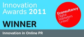 Stickyeyes awarded global 'Innovation in Online PR' Award