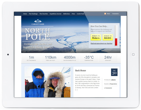 Site de angariação de fundos North Pole