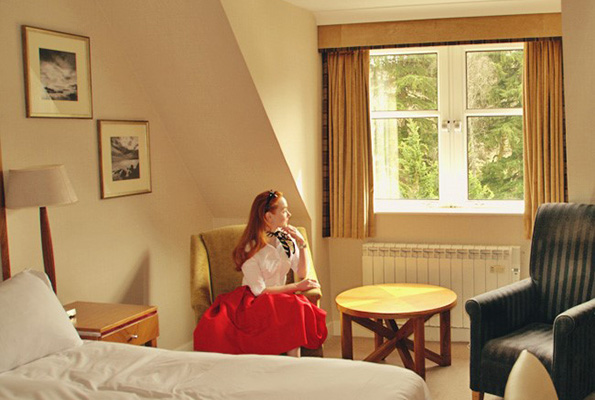 Forever Amber taking in the backdrop while staying at the Hilton Dunkeld House, Perthshire. Photo By Forever Amber.