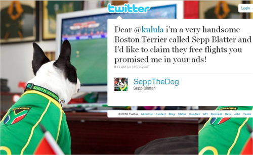 Sepp The Dog tweet
