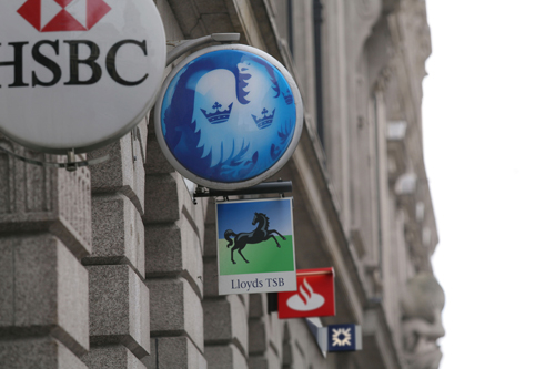 Bank signs, City of London.B9AXG3
