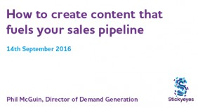 How to create content that fuels your sales pipeline – webinar slides and recording