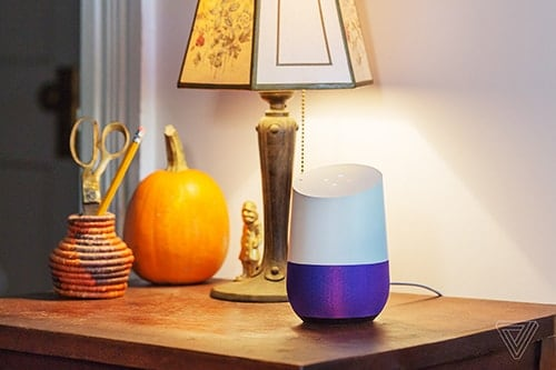 google home voice search speaker