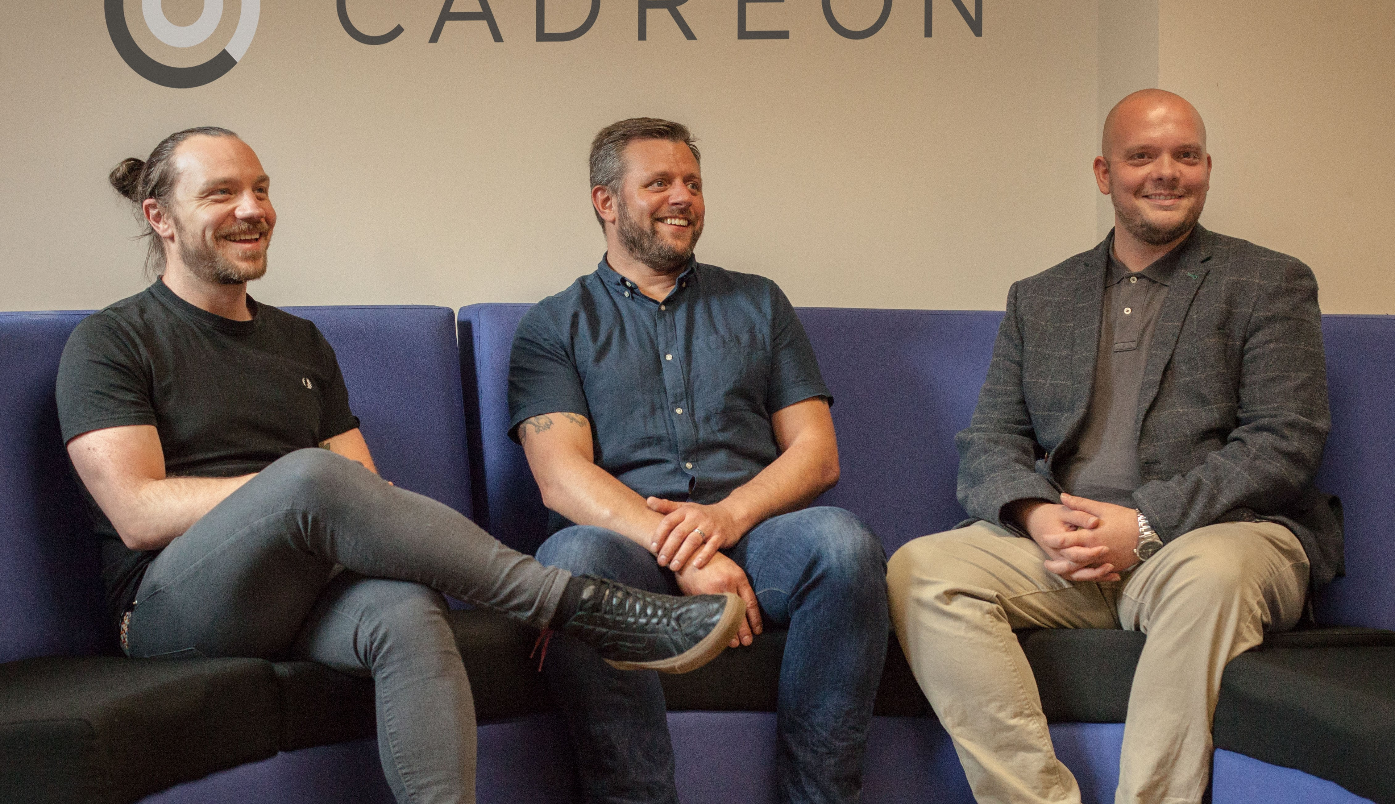 L to R, members of the new Cadreon team Mike McDougall, Steve Lee and Tony Booth