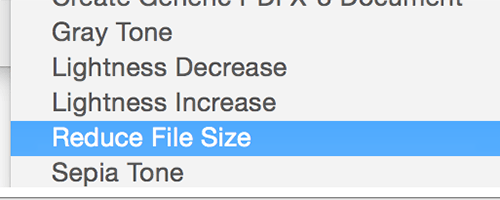 reduce file size