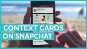 Context cards brings big opportunities for brands on Snapchat