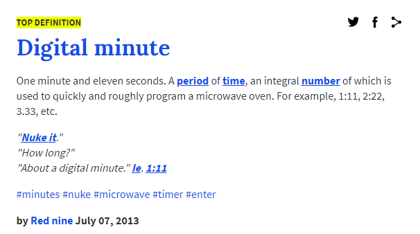 urban dictionary digital minute definition